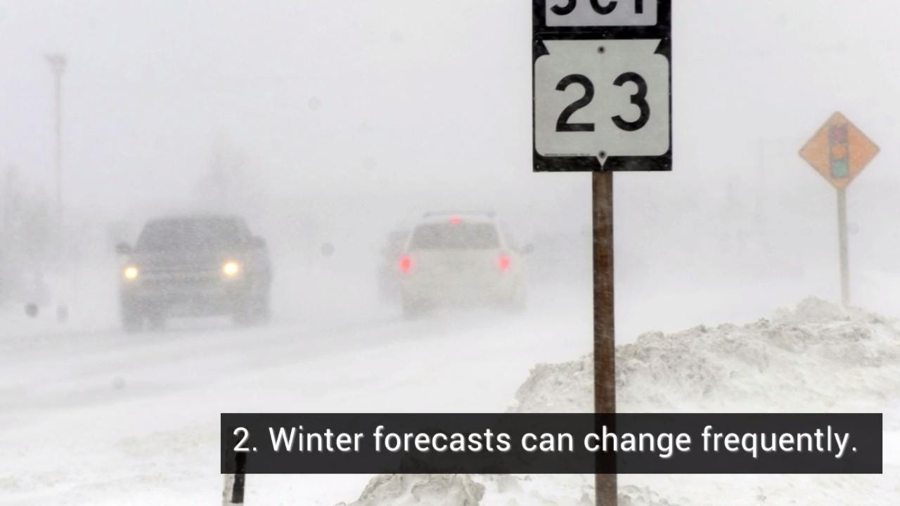 5 things to know about winter weather forecasts