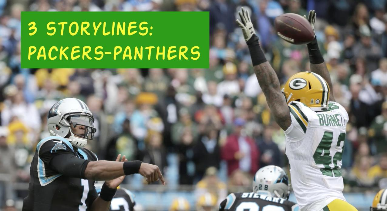 A quick overview of three storylines that could help determine the outcome when the Green Bay Packers take on the Carolina Panthers in Charlotte. (Dec. 12, 2017)