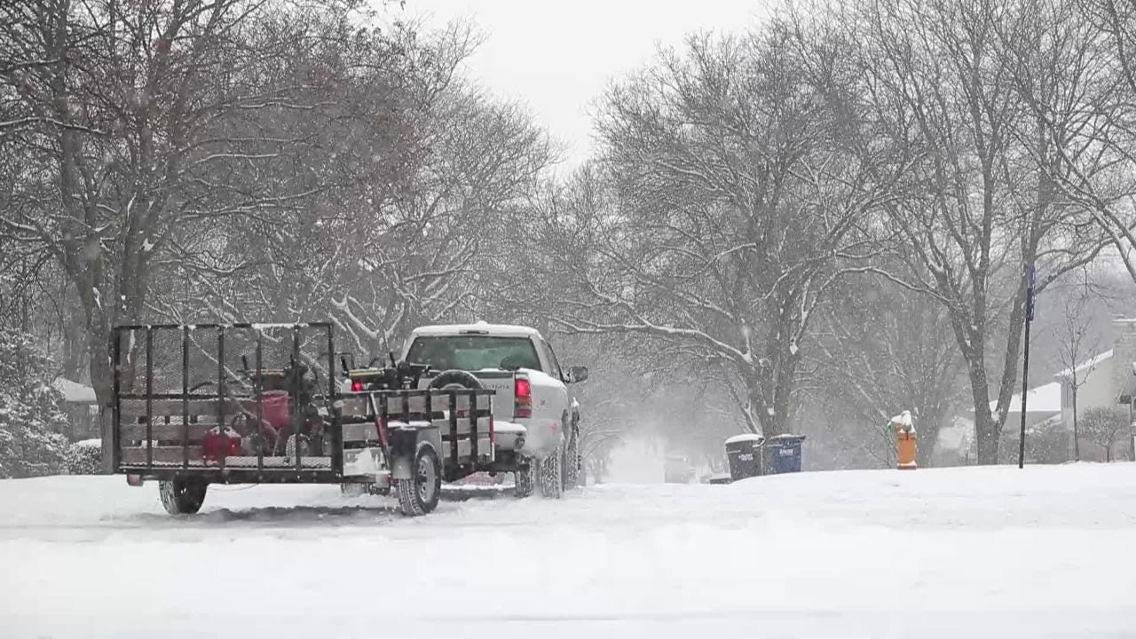 The Green Bay area received 6-8 inches of snow on Dec. 13, 2017.