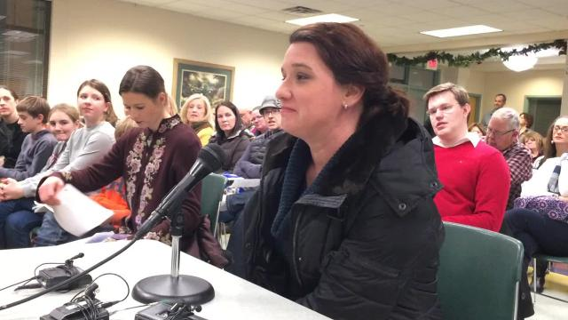 More than 30 De Pere residents called on officials not to close Legion Pool at a public meeting on Dec. 14, 2017.