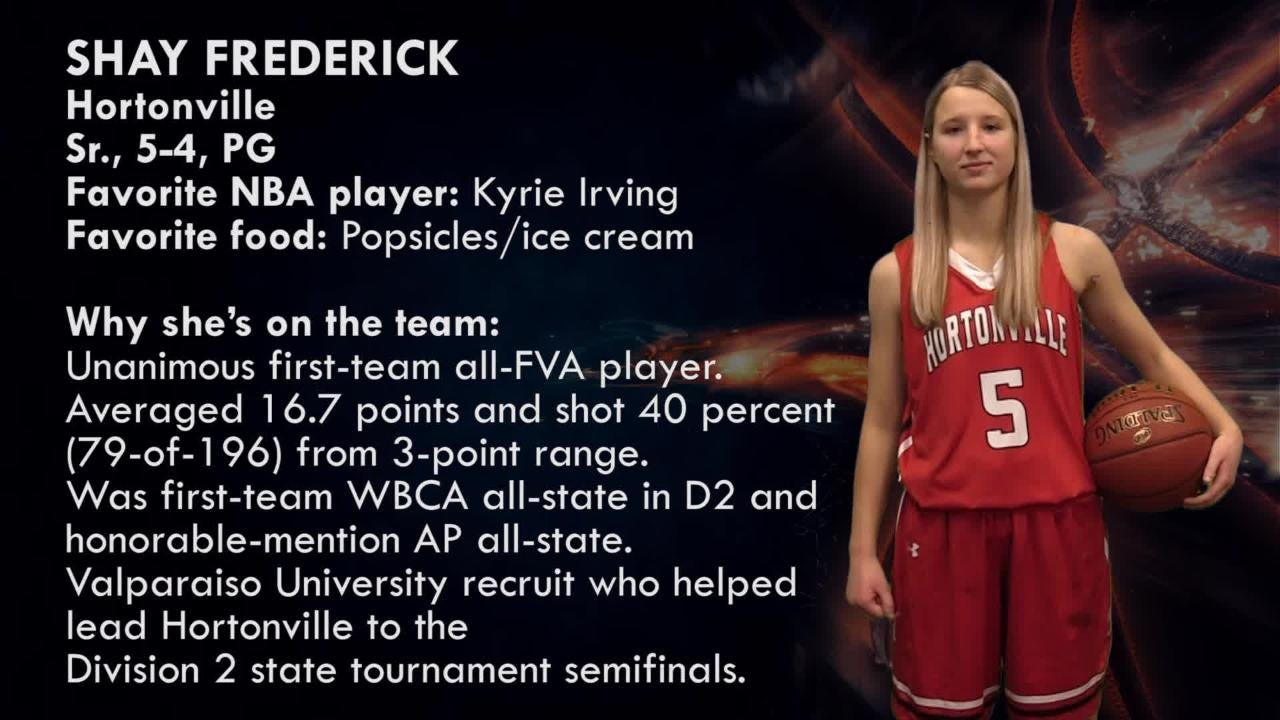 Hortonville's Shay Frederick is one of the top players to watch in the Post-Crescent coverage area.