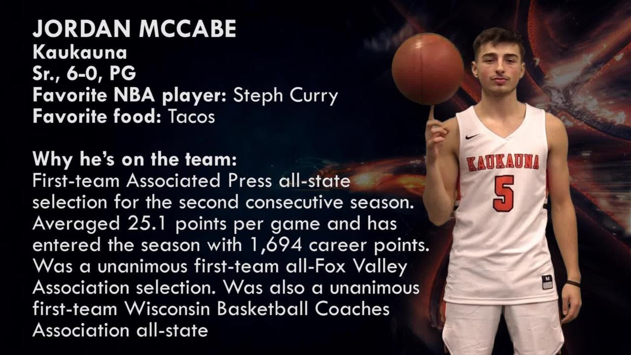 Kaukauna's Jordan McCabe is one of the top players to watch in the Post-Crescent coverage area.