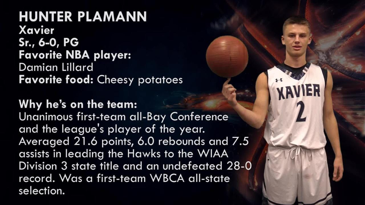 Xavier's Hunter Plamann is one of the top players to watch in the Post-Crescent coverage area.