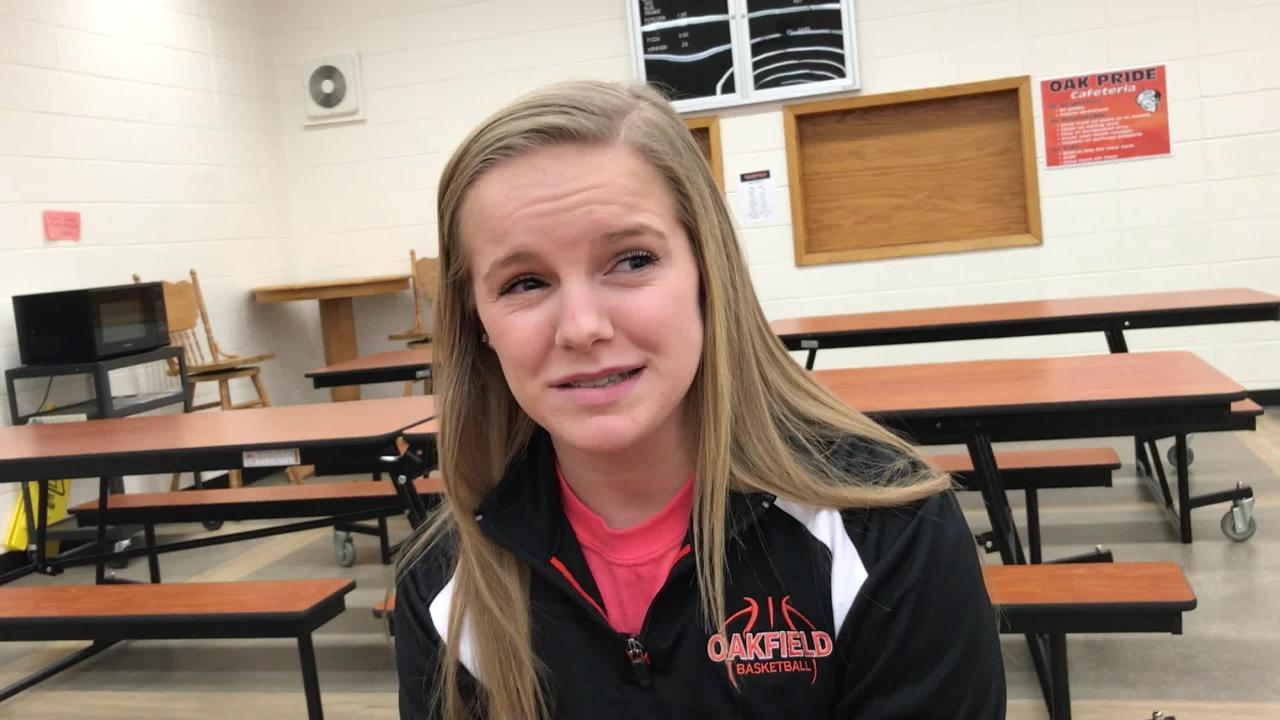 Oakfield's Brianna Sabel is a multi-sport athlete who currently leads the Oaks basketball team in scoring