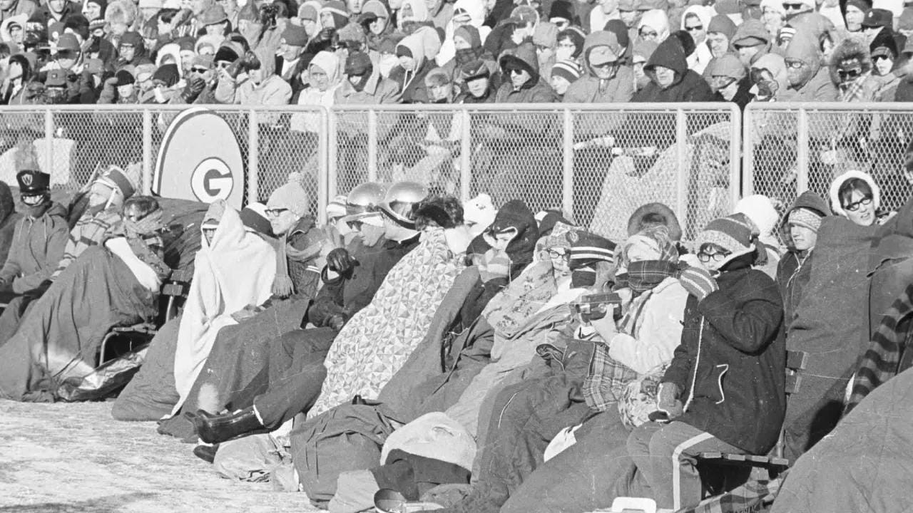 Former Green Bay Packers players reflect on the Dec. 31, 1967 NFC Championship game - later dubbed the Ice Bowl because of frigid temperatures - 50 years after the team's victory against the Dallas Cowboys at Lambeau Field.
