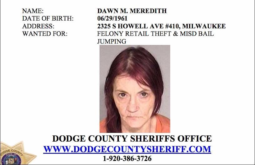 If you have any idea of the location of anyone on this list, contact the Dodge County Sheriff's Department at 1-920-386-3726