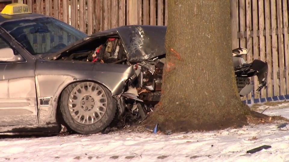 The crash occurred early Thursday morning on Hawthorne Drive on the south side of the city.
