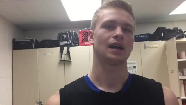 The Bluejays veteran talks about the Bluejays' win over SPASH last week, what he likes about this year's Bluejays team and being a leader in his final high school season.