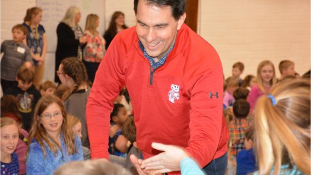 Gov. Scott Walker toured Gibraltar Area Schools in Door County to highlight his work to ensure all children have access to a good education.