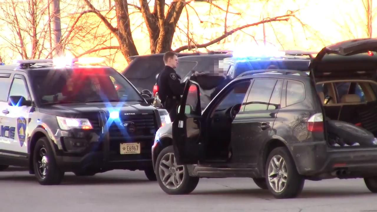 Fond du Lac Police take a suspected shoplifter into custody.