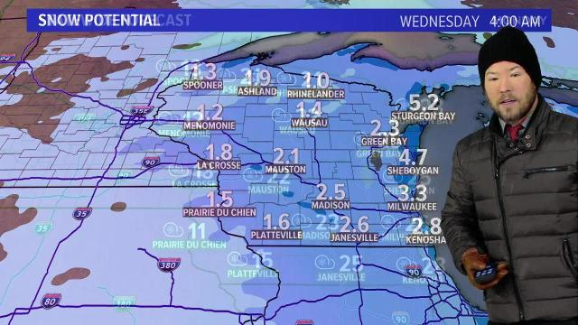 Wisconsin weather forecast for Monday, Jan. 15