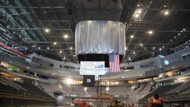 Time lapse: Raising the new Bucks scoreboard
