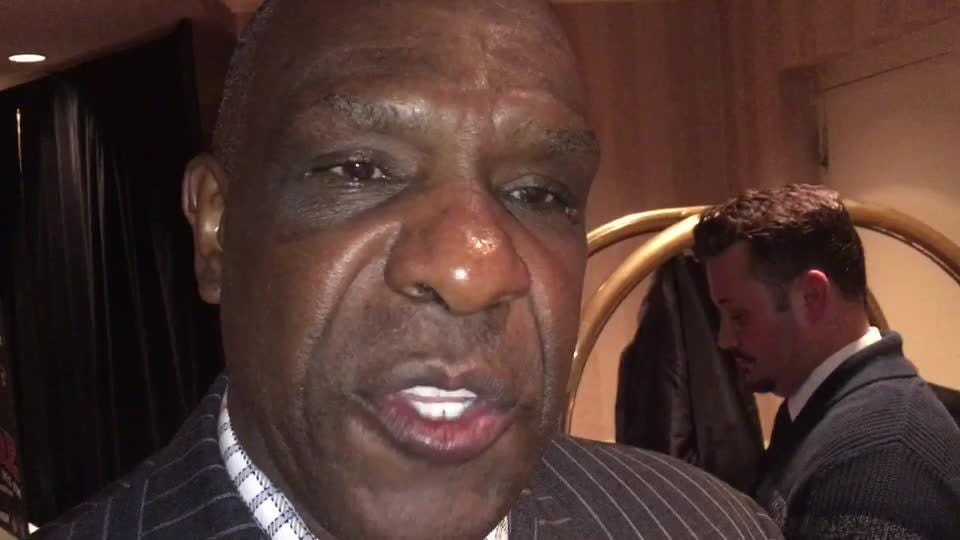 Chicago Cubs great and baseball hall of famer Andre Dawson talks about the Chicago Cubs 2016 World Series title at the 53rd Annual Red Smith Banquet at the Radisson Paper Valley Hotel on Tuesday, Jan. 16, 2017.