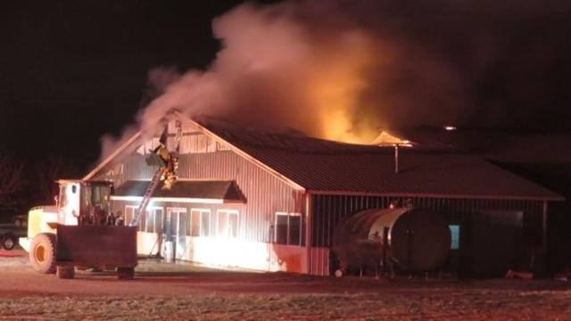 A fire on Jan. 13 destroyed the office, laundry, holding area and milking parlor at Dittmann Dairy in Johnson Creek.
