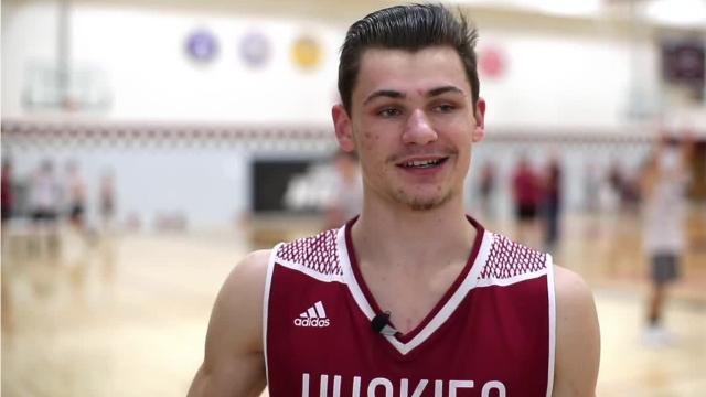 Senior Spotlight Q&A video with New Holstein boys basketball player Ryan Steffes.