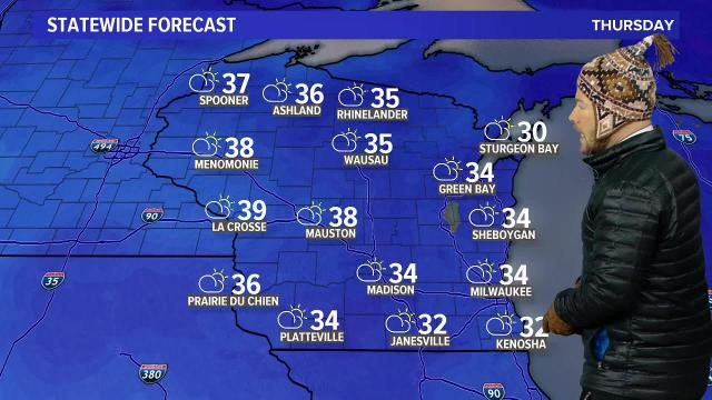Wisconsin weather forecast for Thursday, Jan. 18