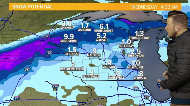 Wisconsin weather forecast for Monday, Jan. 22