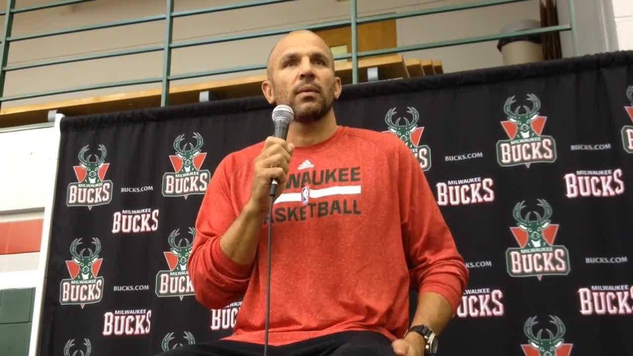 Jason Kidd At Bucks Media Day