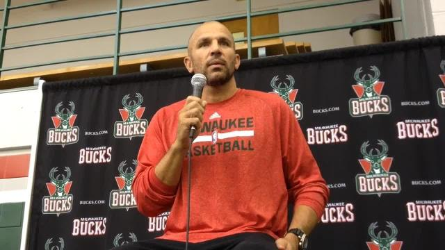 Jason Kidd At Bucks Media Day