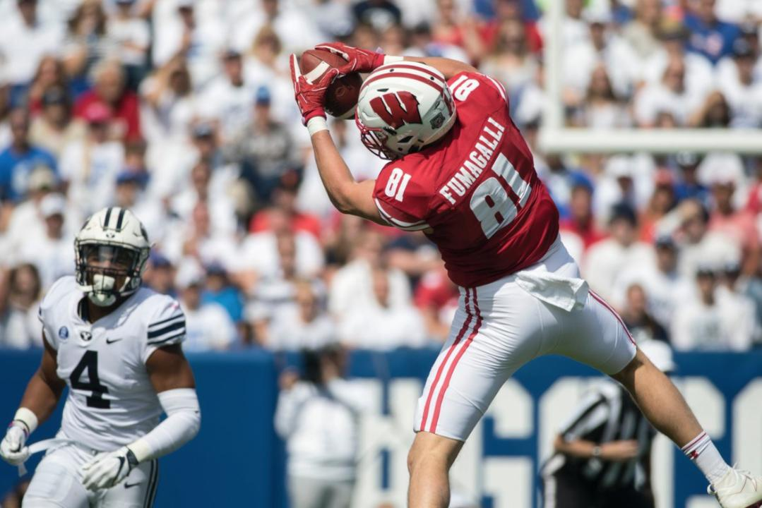 Aaron Nagler speaks with Michael Cohen about former Wisconsin tight end Troy Fumagalli's strong showing at the Senior Bowl on Wednesday.
