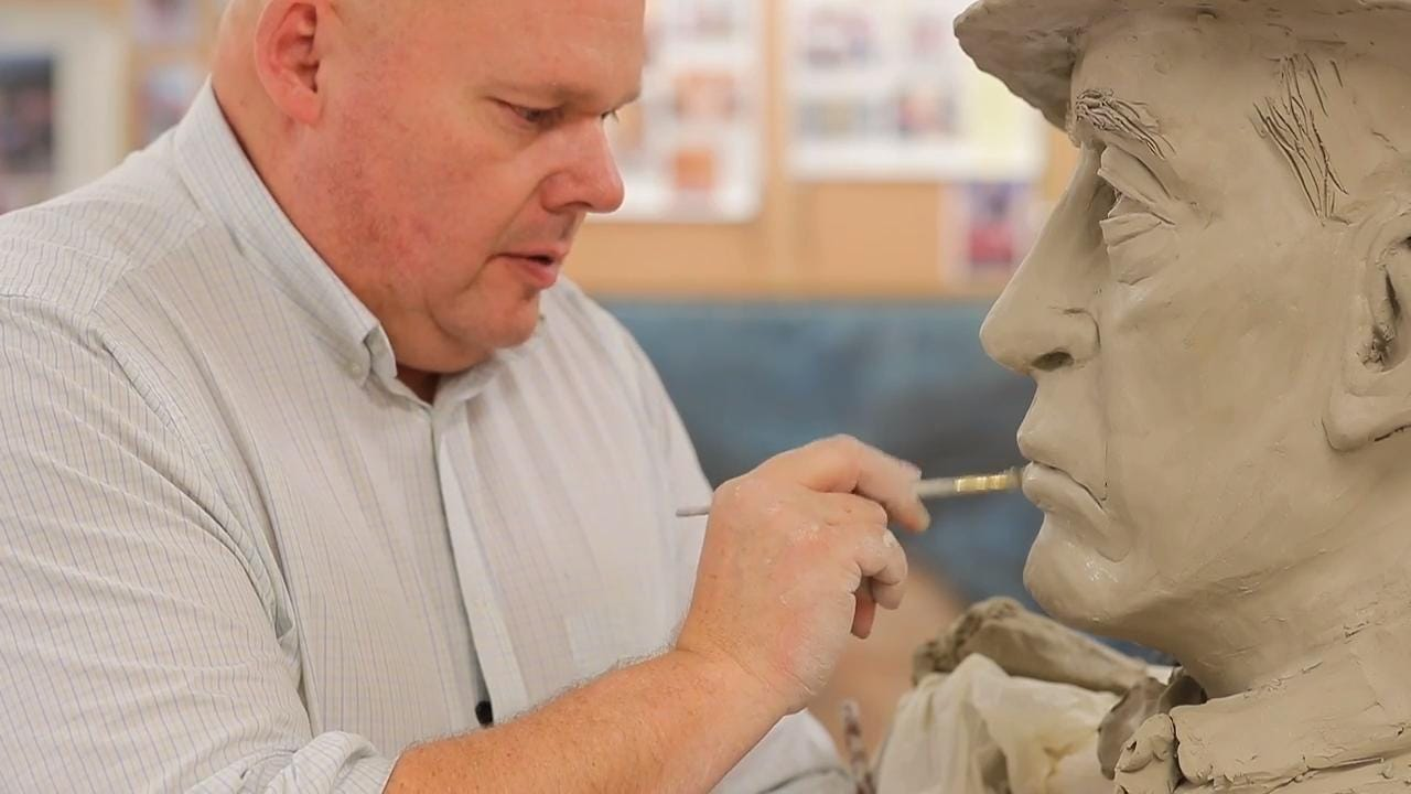 Freedom High School art teacher Tim Brunn helps students find balance and shine through artwork.