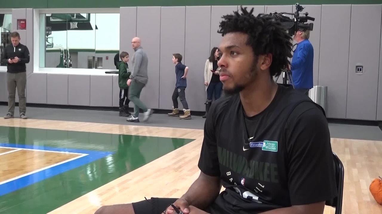 """Reporter Matt Velazquez sat down with Bucks guard Sterling Brown for a segment of """"Bucks update."""" This is an excerpt of what he said about Milwaukee."""