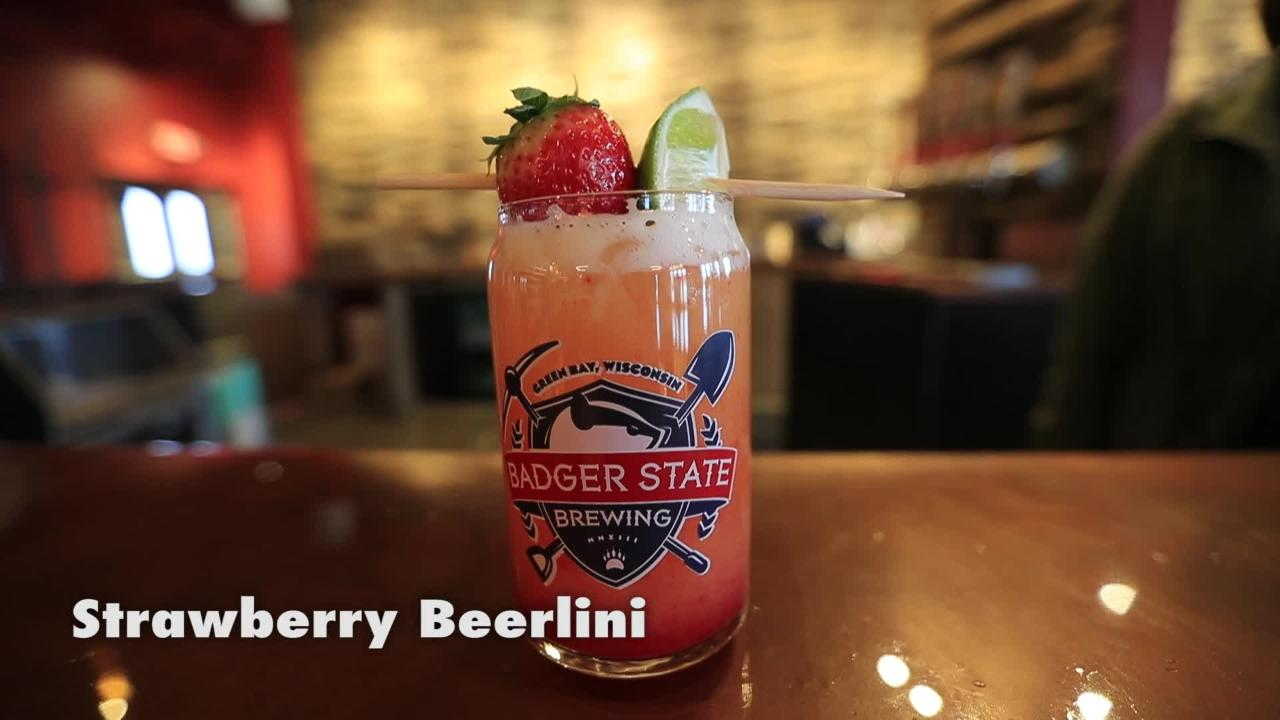 Three craft beer cocktail recipes from Badger State Brewing in Green Bay.