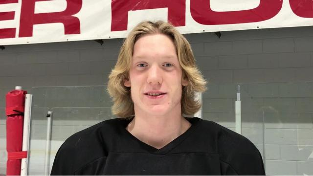 Wisconsin Rapids senior Isaac Gilbert brings a lot to the ice for the Raiders as a defenseman. Not only does he anchor the blueline, but Gilbert offers a scoring threat from the point.