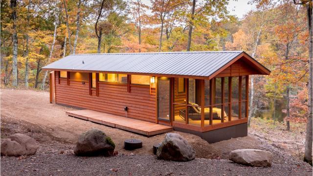 Canoe Bay near Chetek has three tiny home models available for vacation rentals.