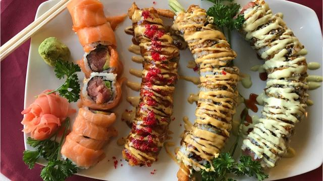 Sushi is the most popular dish at Little Tokyo Restaurant in Green Bay. With more than 50 options it is difficult to say there is one that's the most popular, but the New York, Benori, Sumo and Fantasy rolls are among the best sellers.
