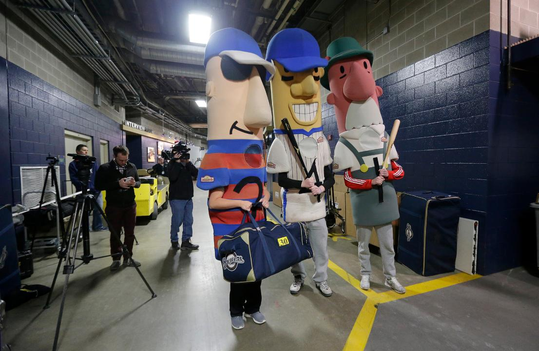 The Milwaukee Brewers equipment truck was loaded at Miller Park before heading to the Brewers' spring training home, Maryvale Baseball Park in Phoenix.