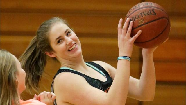 Senior Spotlight Q&A video with Plymouth girls basketball player Jessica Leider.
