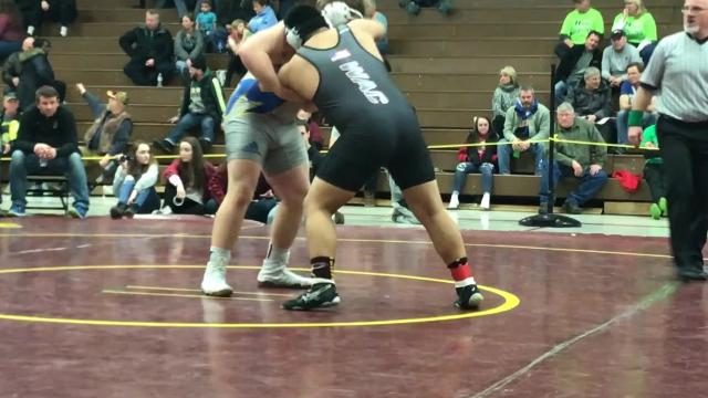 Mukwonago senior Aric Bohn, the defending Division 1 state champion at 220 pounds, talks about his victories Saturday and looks ahead to the team sectional Tuesday.