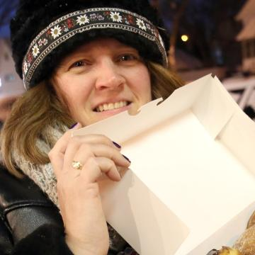 It's Fat Tuesday, you're in Milwaukee, it's likely someone will offer you a paczki.