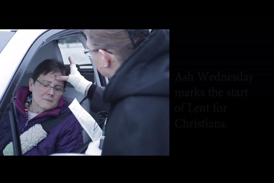Christians too busy to get to service Ash Wednesday can go through the drive through this year.