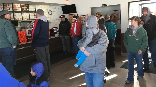 The Spencer A&W had its grand opening on Monday and locals turned out in droves to support the new restaurant.
