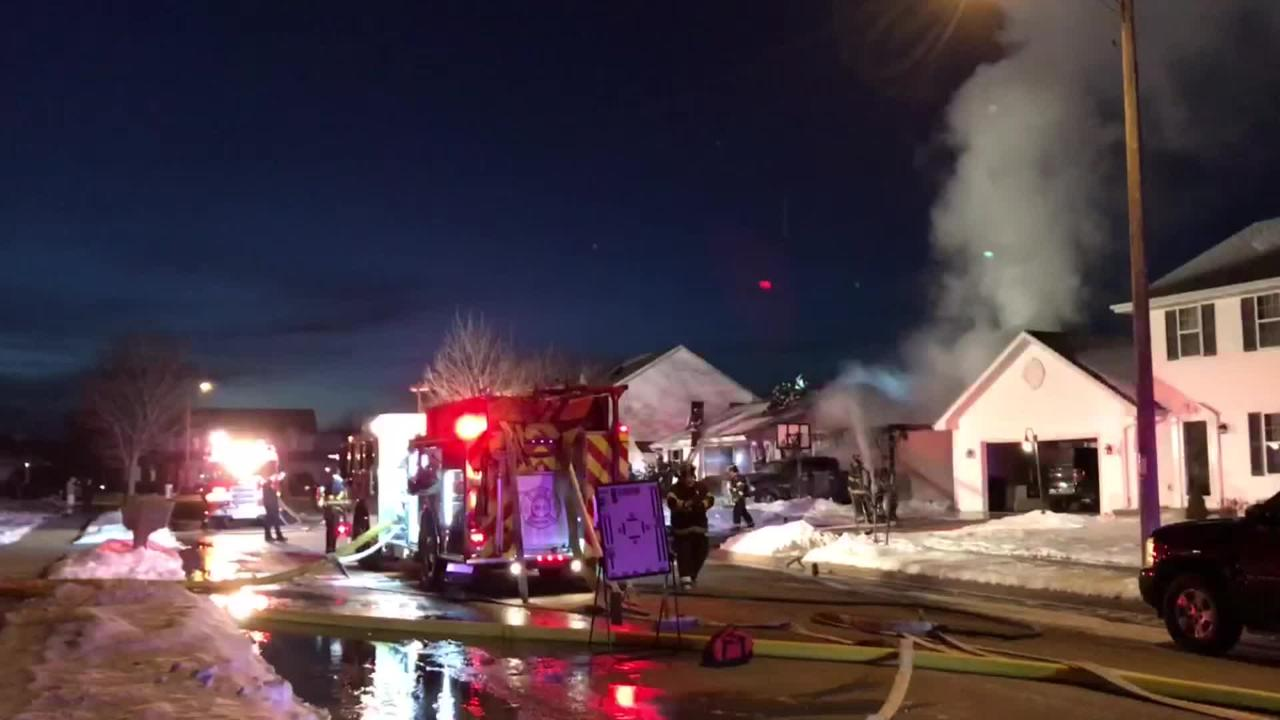 A fire in an attached garage in the 1000 block of Rolling Meadows Drive was reported about 5:40 p.m. on Monday.