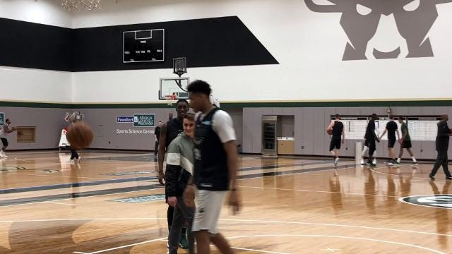 The Milwaukee Bucks and Make-A-Wish teamed up to give 15-year-old Dimitris Zamanis 'the best day of my life.'