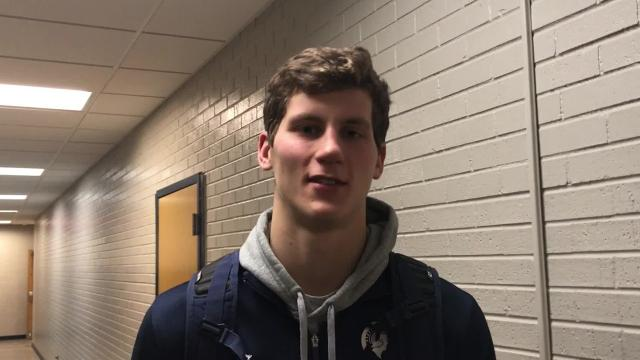 Brookfield East senior Patrick Cartier talks about, among other things, being a three-sport athlete and the benefit of having his twin brother, Everett, on the team.