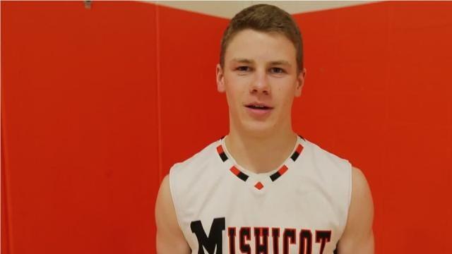 Senior Spotlight video with Mishicot boys basketball player Bradley Reinhart.