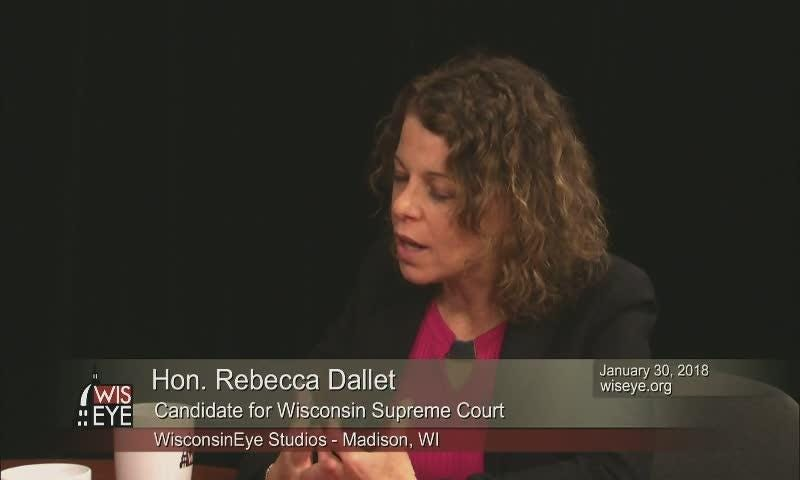 Interview with Wisconsin Supreme Court candidate Rebecca Dallet