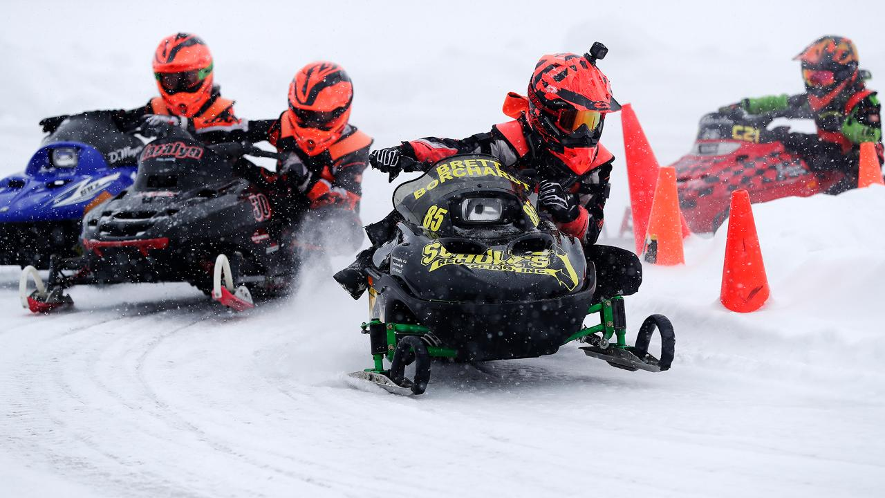 A race day for the Wisconsin Kids Snowmobile Racing Association in Tomahawk. (March 6, 2018)