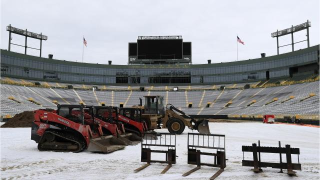 The Green Bay Packers are replacing the turf at Lambeau Field.