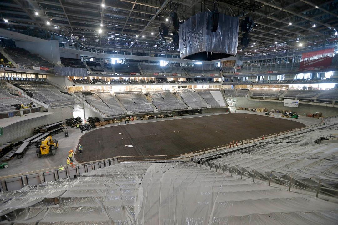 As the new Milwaukee Bucks arena reaches 85% completion, take a look inside the structure to see the progress so far.
