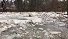 Ice on the Milwaukee River broke apart Friday and is seen flowing downstream through Glendale, south of Bender Road, in this video taken by Mark Crawford.