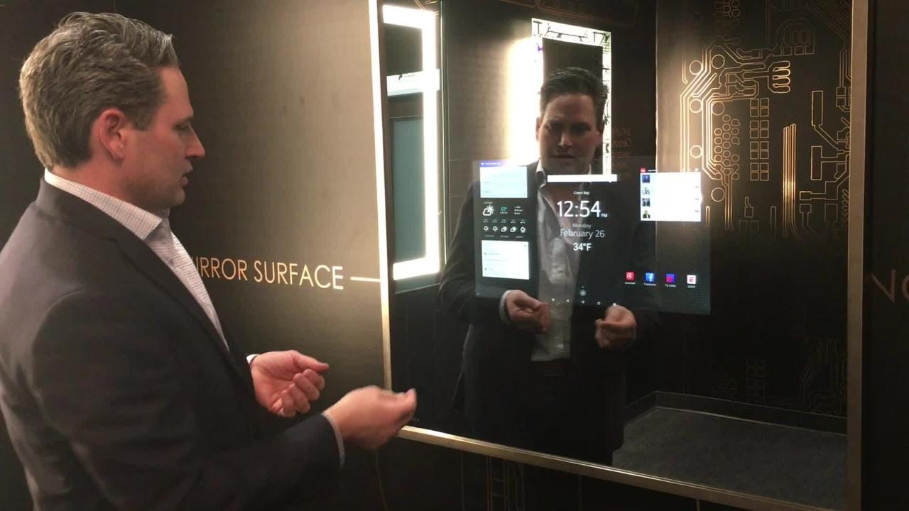 The Green Bay-based company has expanded from embedding TVs in custom mirrors and vanities to developing smart screens that respond to voice and touch commands.