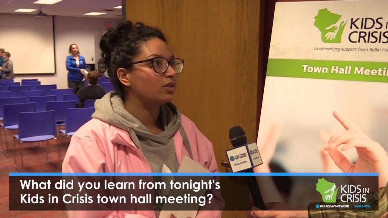 Kids in Crisis: Sheboygan town hall reactions