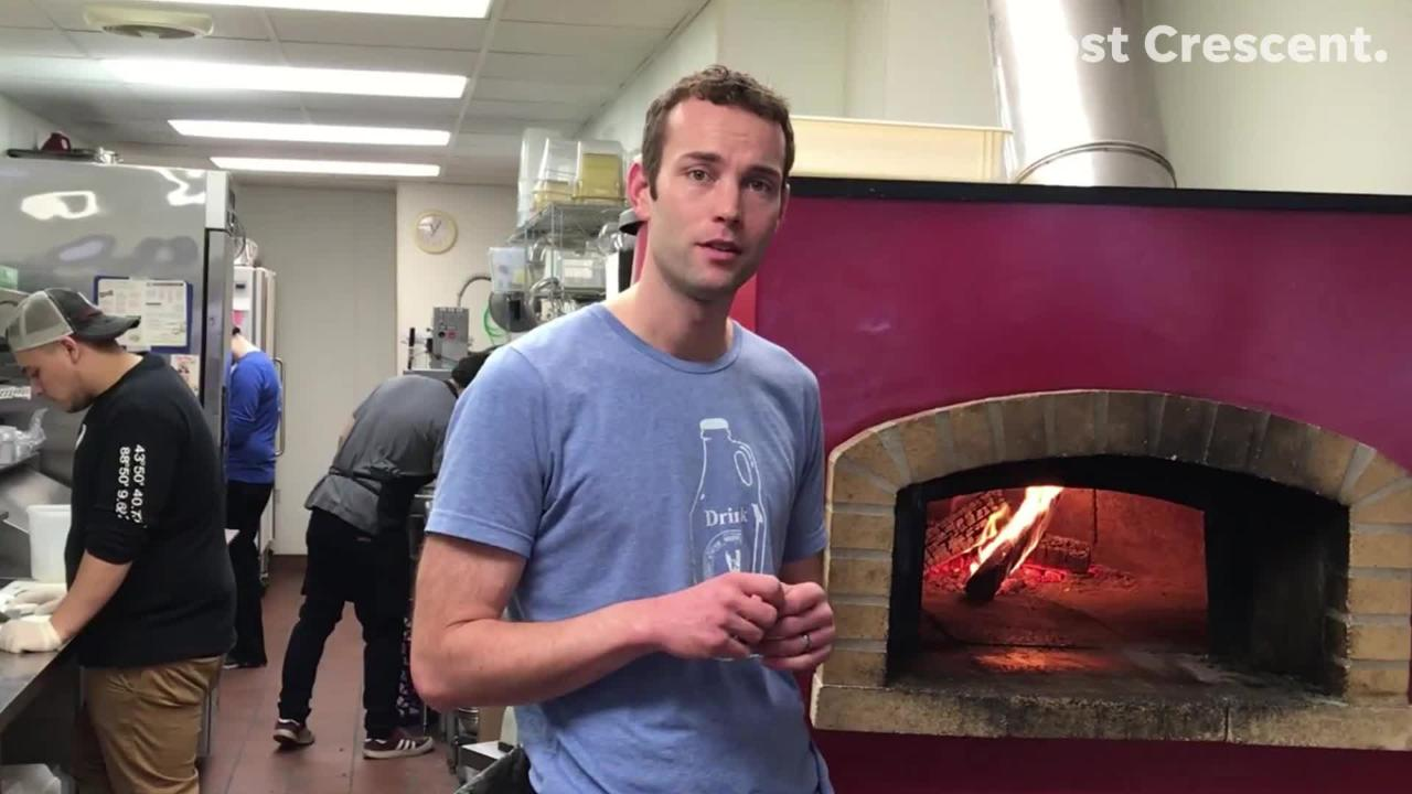 Wood fired pizzas are popular at Knuth Brewing Co. in Ripon. (March 2, 2018)