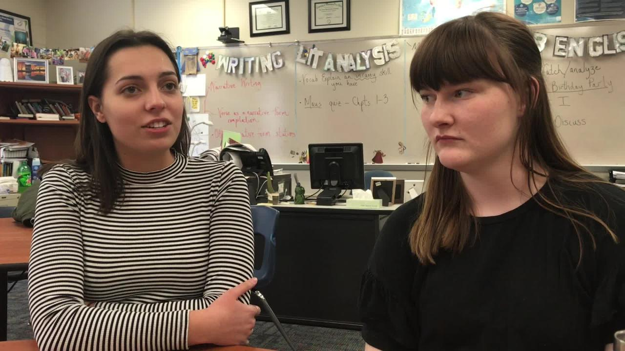 Bay Port High School Students explain why they are planning a sit-in for March 14.