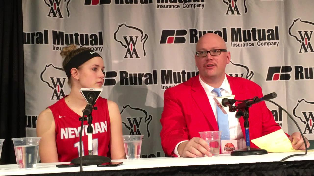 Newman Catholic girls basketball coach Jason Vanden Elzen hopes the Cardinals' return to the WIAA state girls basketball tournament will inspire young players at the school